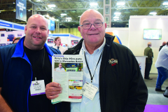 Barry Flanagan popped by Skip Hire & Waste Magazine's stand to grab a copy with a story about his company.