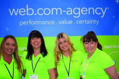 The luminescent team from Web.com were bringing in the custom throughout the waste recycling event of the year.