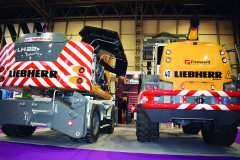 LIEBHERR's stand showcased two state-of-the-art vehicles.