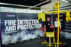 Firemain are a UK leader in fire prevention equipment for the waste recycling sector, and had a stand spearheaded by company MD Phil Bayliss (left).