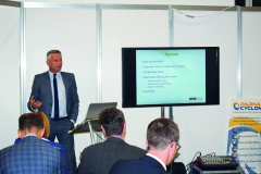 WRA Chair Andy Hill at RWM takes a packed audience through the needs of recycling wood within an ever-growing industry.