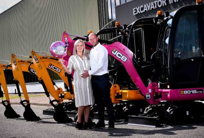DIGGER BOSS ADDS PINK MACHINE TO FLEET TO MARK IMPENDING BIRTH