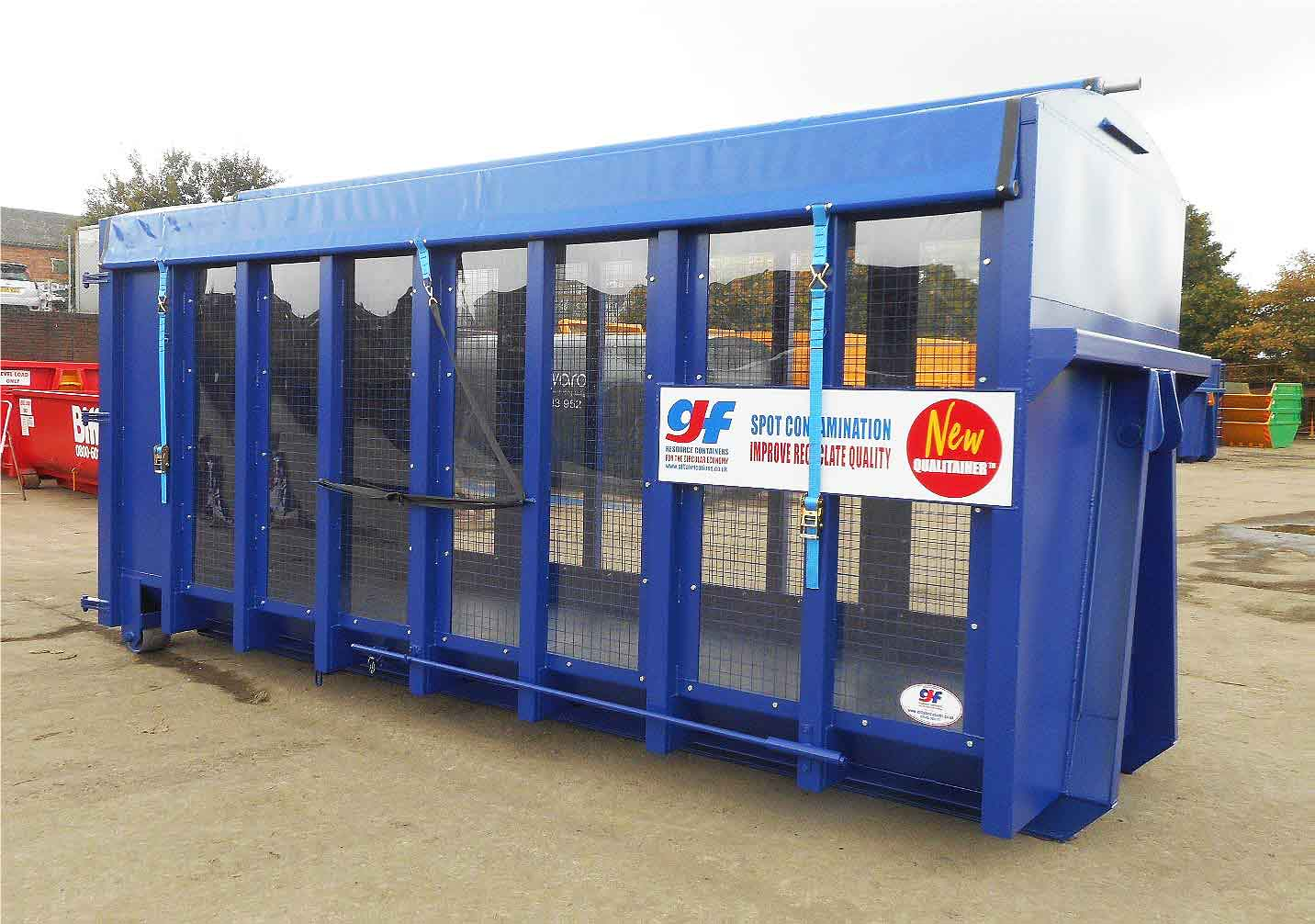 GJF Fabrications Launches QualitainerTM Hooklift Container to Reduce Contamination of Recyclate