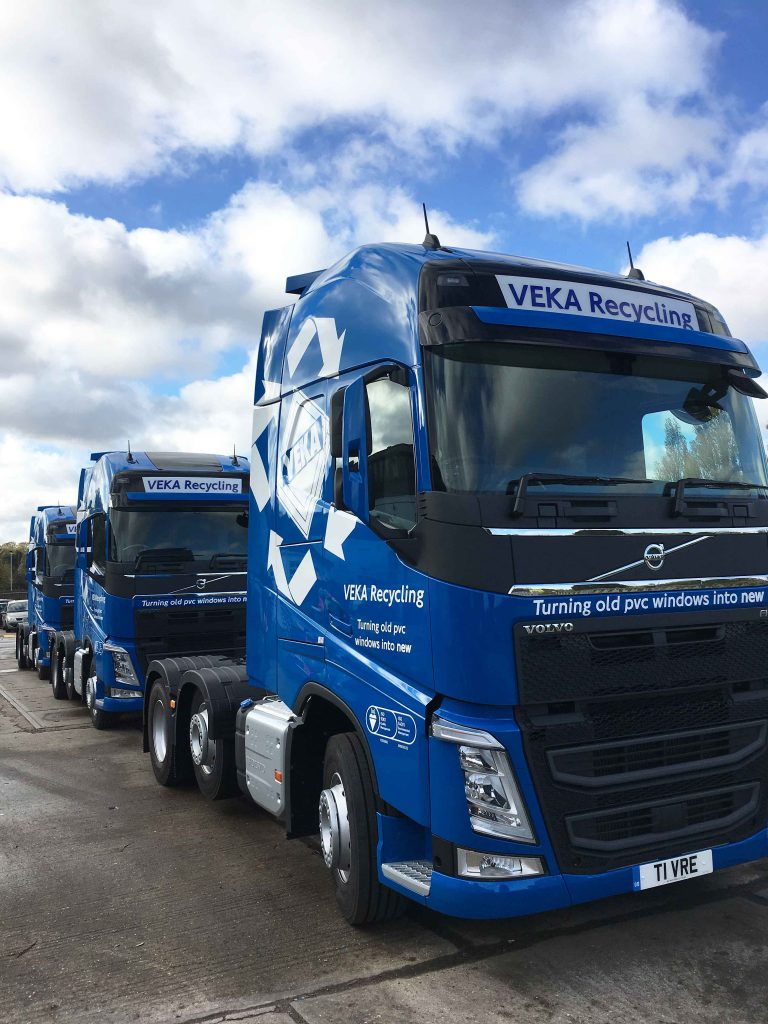 VEKA recycling starts 2017 with new fuel efficient truck fleet