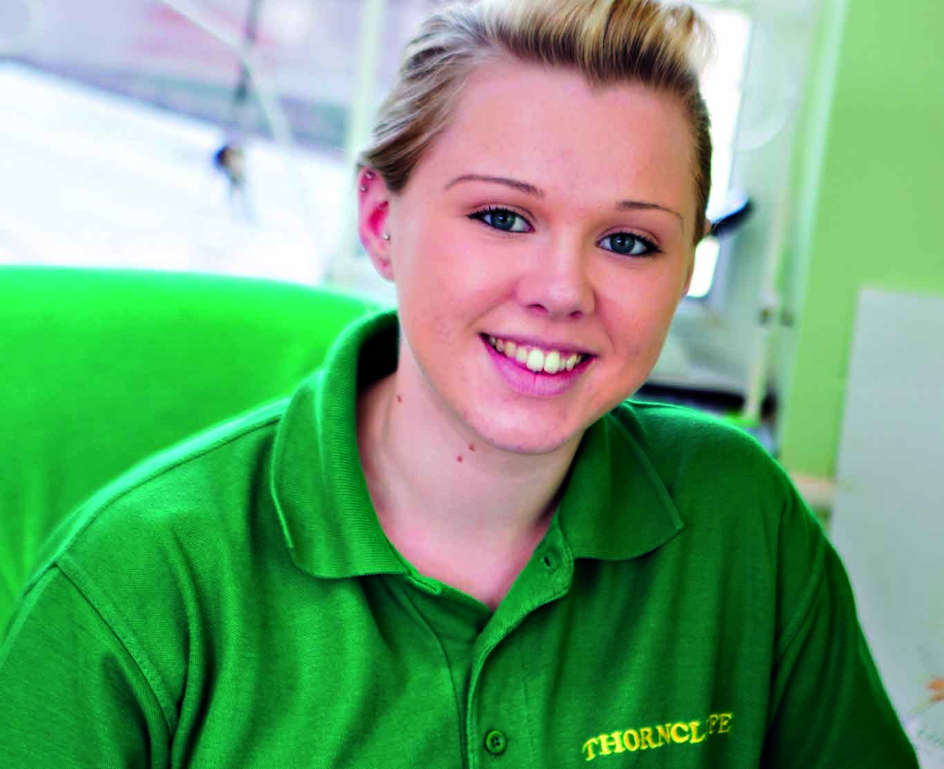 Skip Chick Katie Hodson, Thorncliffe Skip Hire, North Wales