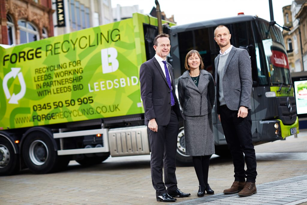 LeedsBID teams up with Forge Recycling to deliver improved commercial waste and recycling collection service in city centre