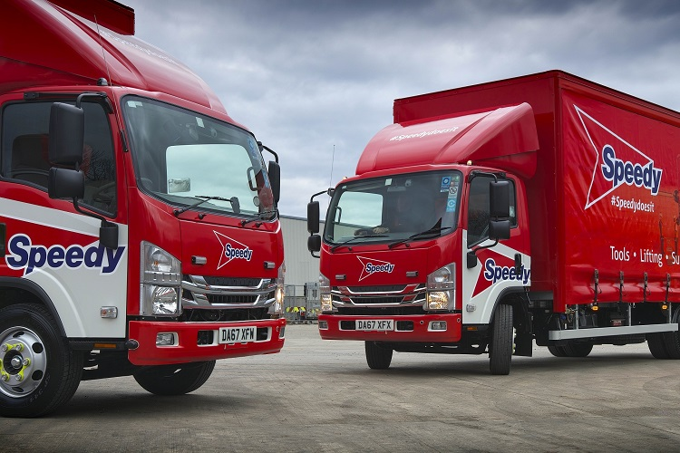 19 vehicle order speeds Isuzu up to 60 trucks in the Speedy Hire fleet