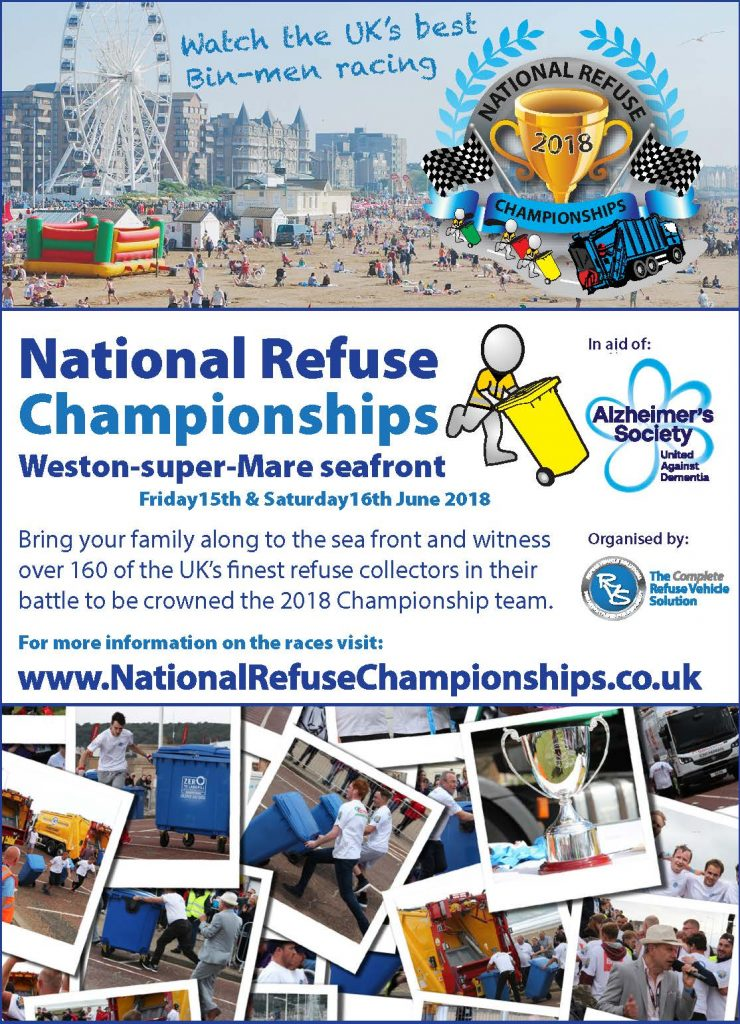 Quarter page Advert National Refuse Championships 2018 free advert