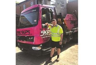 June's Skip Hunk: Trevor Holmes of Pink Skips, Leeds