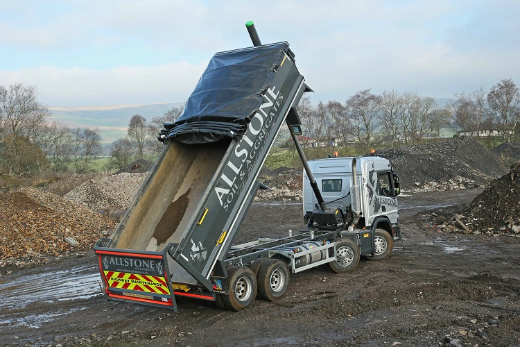 Glasgow waste firm's new Scania Tipper fitted with HARSH features