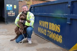Recycling experts Scott Bros. offer skip-aid to dog rescue charity