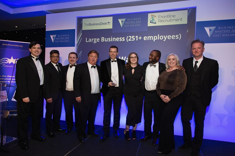 Double win for Ward at East Midlands Business Masters Awards