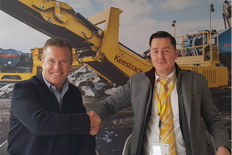 Warwick Ward announces new partnership with Keestrack
