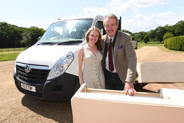 John Challis and Emily Head star in the advert for ClearWaste.com