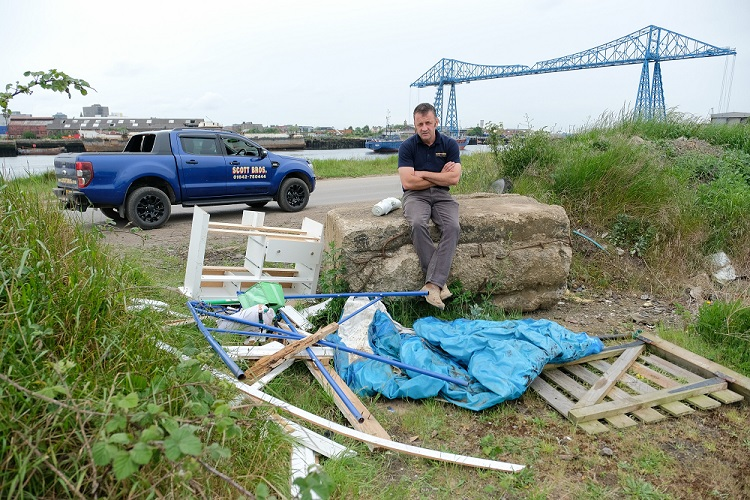 Scott Bros. trumpets hazzards of fly tipping