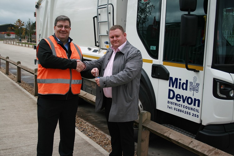 New low emission vehicles start to arrive at Mid-Devon District Council
