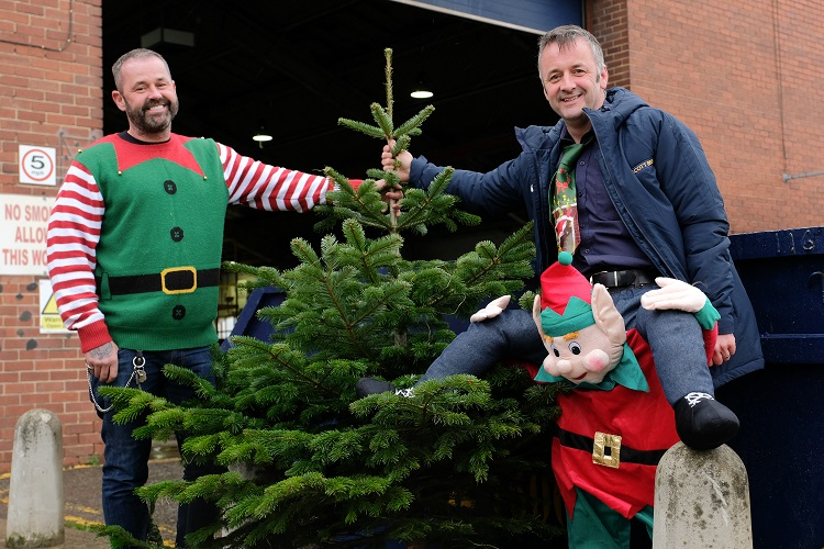 Scott Bros in fir-stive spirit with Christmas tree drive