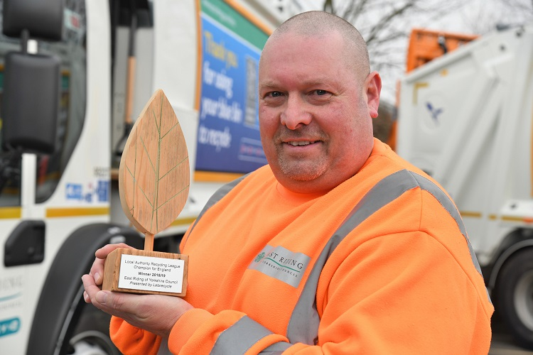 East Riding presented with recycling league champion trophy