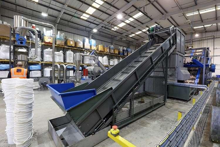 Indigo's new contaminated plastics recycling line