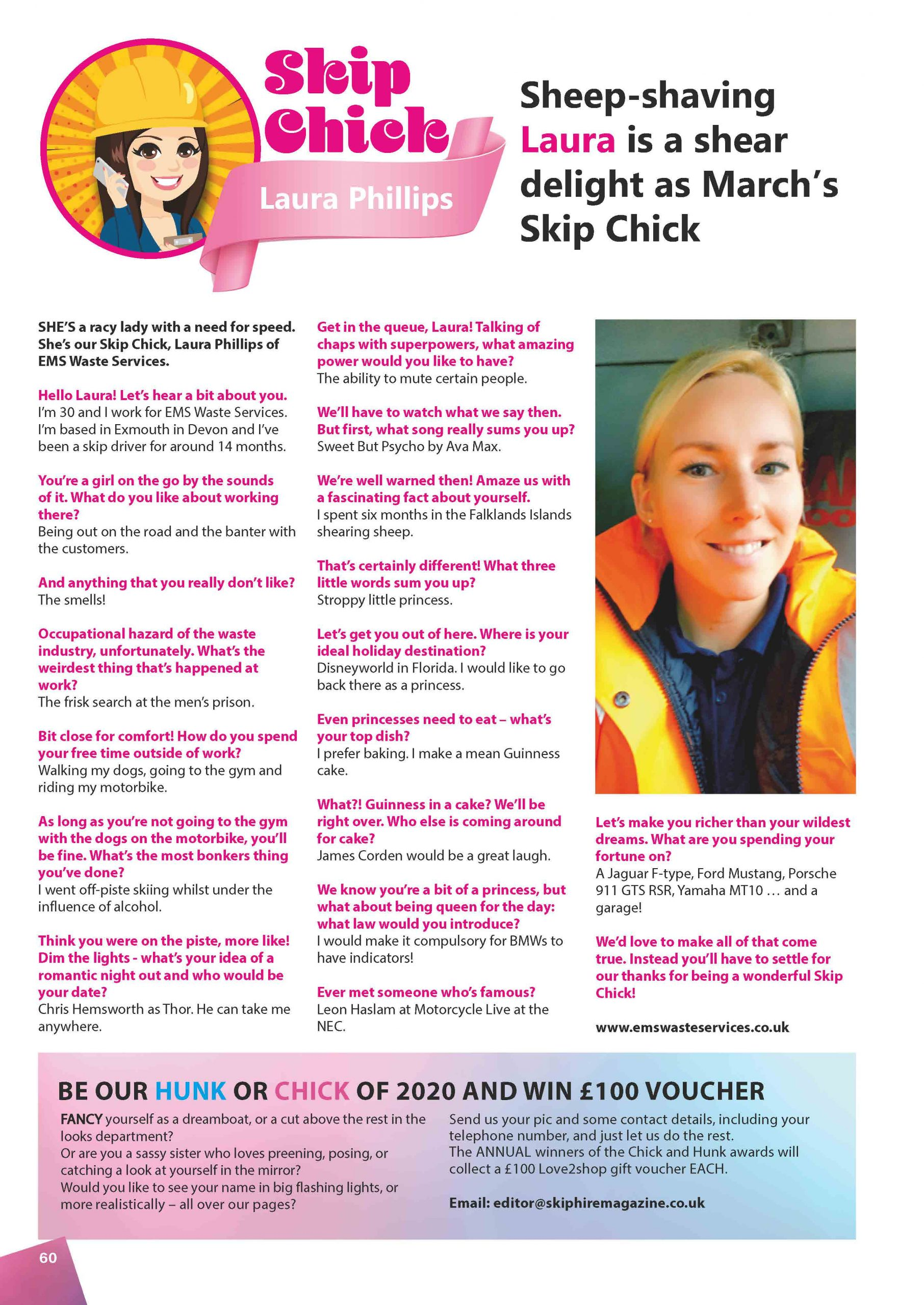 March Skip Chick: Laura Phillips of EMS Waste Services