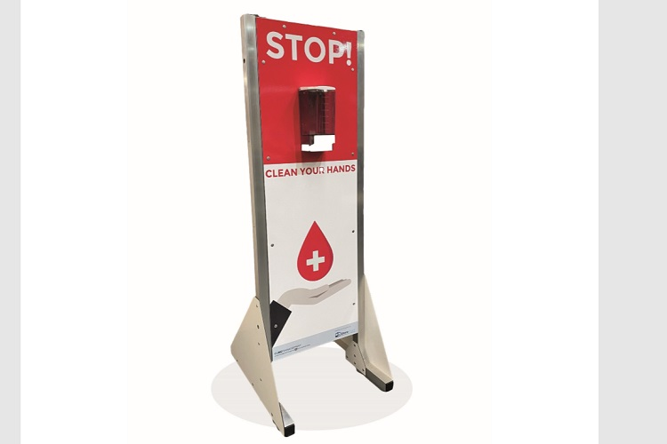 Hands together for PAL Hire's sanitiser stations