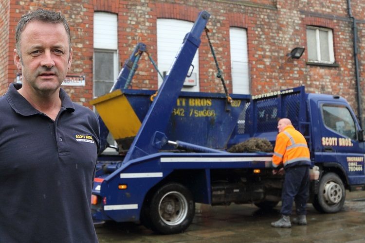 Scott Bros urges householders to beware of waste fly tippers