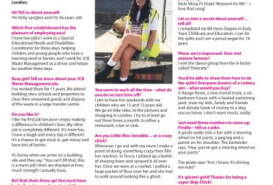 August's Skip Chick: Vicky Langton from JCB Waste Management