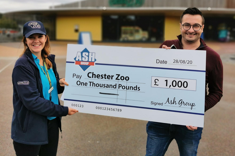 Alan's Skip Hire delighted to raise £1,000 for Chester Zoo appeal