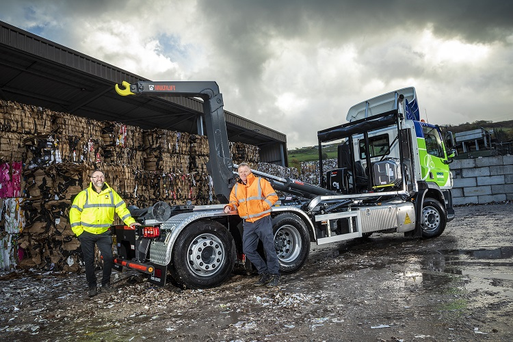 Yorkshire recycling firm scores a hat-trick of Hiab Hooklifts