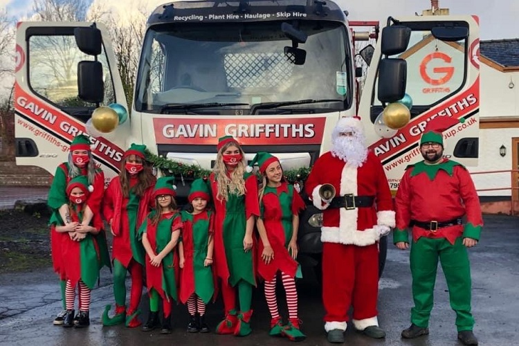 Santa swaps sleighbells for skips with Gavin Griffiths Group