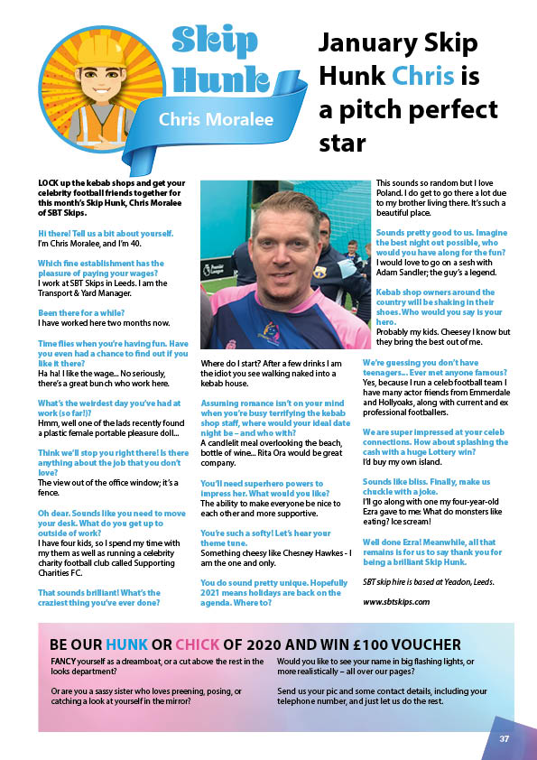 January's Skip Hunk: Chris Moralee from SBT Skips