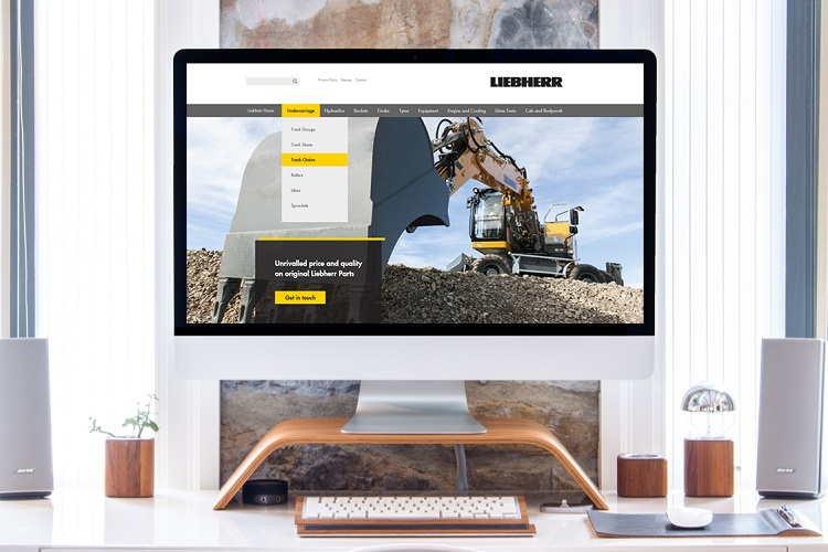 Liebherr-GB cuts costs of spares with new website