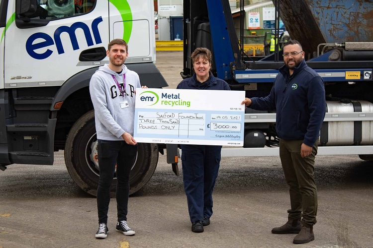 EMR Salford continues to support local youth charity, Salford Foundation