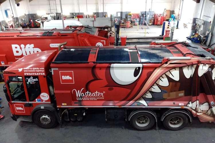 Biffa trials Britain's first solar-assisted powered waste trucks